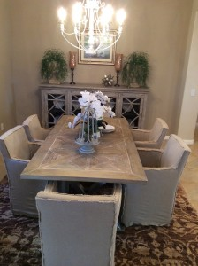 New and improved.  A little love and paint and tadah…your new dining room