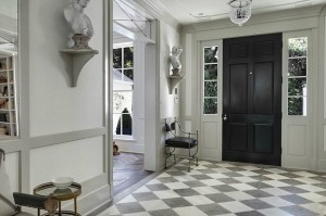 winsome-black-interior-doors-with-hanging-lighting-ideas